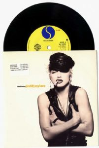 "JUSTIFY MY LOVE - UK 7"" PROMO VINYL"